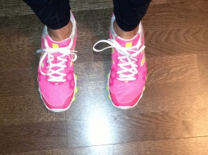 Heck yeah my running shoes are pink!